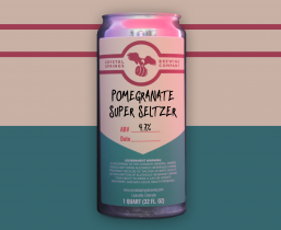 Pomegranate Super Seltzer (Crowler)