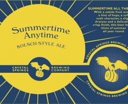 Summertime Anytime Kolsch (Crowler)